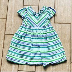 Gymboree Green/Blue Stripe Dress